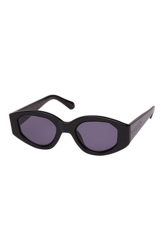 Karen Walker - Castaway Black Sunglasses / Smoke Mono Lenses