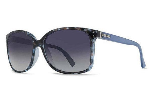 VonZipper - Castaway Navy Tortoise Cloud Crystal NTB Sunglasses, Blue Gradient Lenses