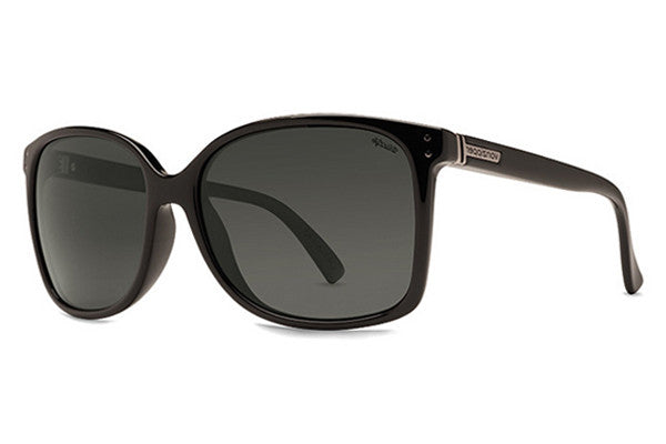 VonZipper - Castaway Black Gloss PBV Sunglasses, Wildlife Vintage Grey Lenses