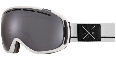 Cebe - Feel'in Matte White Black Snow Goggles / Brown Flash Mirror Lenses