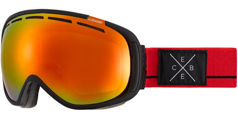 Cebe - Feel'in Matte Black Red Snow Goggles / Orange Flash Fire Lenses