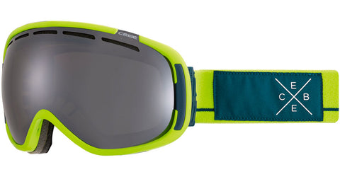 Cebe - Feel'in Matte Lime Blue Snow Goggles / Brown Flash Mirror Lenses