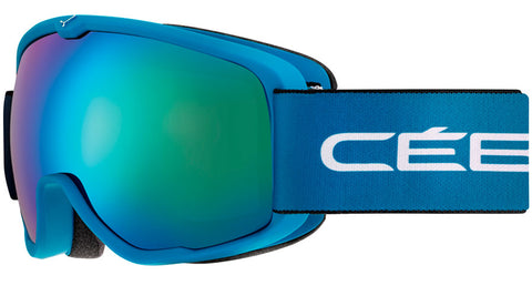 Cebe - Artic Matte Blue White Snow Goggles / Brown Flash Blue Lenses
