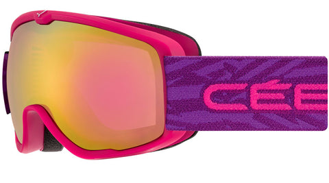 Cebe - Artic Matte Pink Purple Snow Goggles / Light Rose Flash Gold Lenses