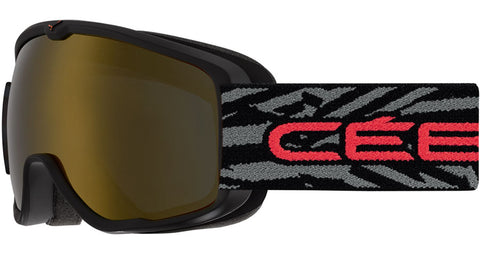 Cebe - Artic Matte Black Red Snow Goggles / Dark Smoke Flash Gold Lenses