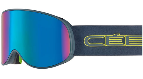 Cebe - Attraction Matte Ciment Lime Snow Goggles / Brown Flash Blue + Yellow Flash Mirror Lenses