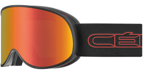 Cebe - Attraction Matte Black Red Snow Goggles / Red Flash Mirror + Yellow Flash Mirror Lenses