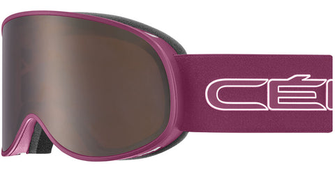 Cebe - Attraction Matte Cranberry White Snow Goggles / Dark Rose Flash Gold + Yellow Flash Silver Lenses
