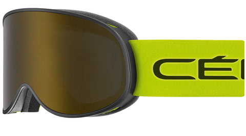 Cebe - Attraction Matte Black Lime Snow Goggles / Dark Smoke Flash Gold + Yellow Flash Silver Lenses