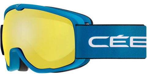 Cebe - Artic Matte Blue White Snow Goggles / Yellow Lenses