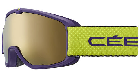 Cebe - Artic Matte Purple Lime Dots Snow Goggles / Dark Rose Flash Gold Lenses