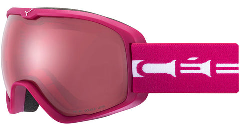 Cebe - Artic L Matte Cranberry White Snow Goggles / Light Rose Lenses