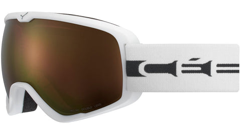 Cebe - Artic L Matte White Grey Snow Goggles / Dark Rose Flash Gold Lenses