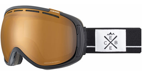 Cebe - Feel'in Matte Black White Snow Goggles / NXT Variochrom Perfo Lenses