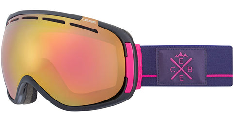 Cebe - Feel'in Matte Black Purple Pink Snow Goggles / Light Rose Flash Gold Lenses