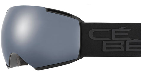 Cebe - Icone Full Black Snow Goggles / Brown Flash Mirror + Amber Flash Mirror Lenses