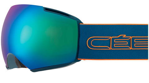Cebe - Icone Petrol Orange Snow Goggles / Brown Flash Blue + Amber Flash Mirror Lenses