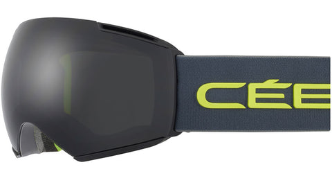 Cebe - Icone Matte Black Grey Lime Snow Goggles / Grey + Amber Flash Mirror Lenses