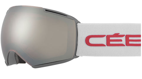 Cebe - Icone Matte Grey Pink Snow Goggles / Dark Rose Flash Mirror + Amber Flash Mirror Lenses