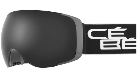 Cebe - Exo OTG Matte Black White Snow Goggles / Grey + Amber Flash Mirror Lenses