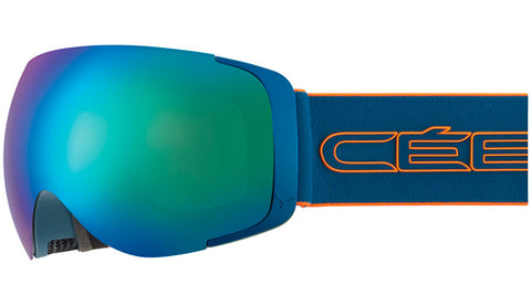 Cebe - Exo OTG Matte Petrol Orange Snow Goggles / Brown Flash Blue + Amber Flash Mirror Lenses