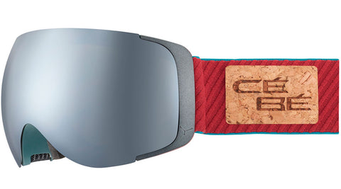 Cebe - Exo OTG Matte Grey Burgundy Snow Goggles / Brown Flash Mirror + Amber Flash Mirror Lenses