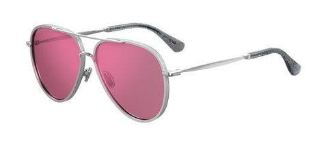 Jimmy Choo - Triny S Silver Sunglasses / Red Sol Lenses