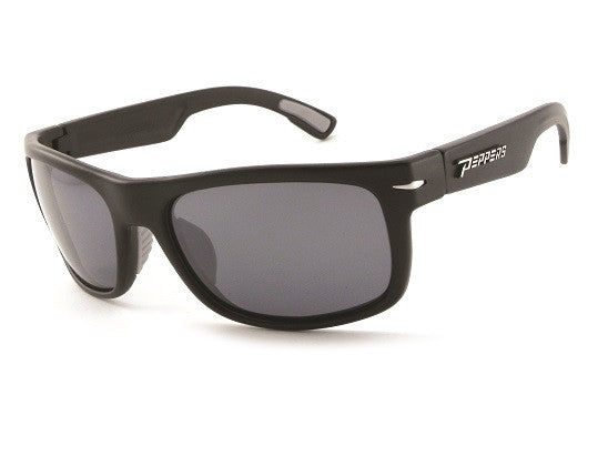 Peppers - Palisades Matte Black Sunglasses, Smoke Lenses