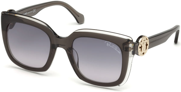 Roberto Cavalli - RC1069 Grosseto Black Sunglasses / Gradient Smoke Lenses