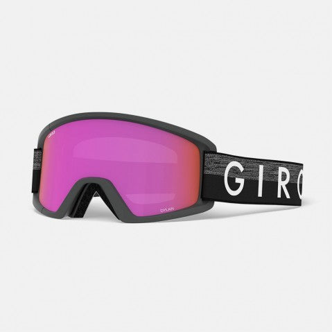 Giro - Dylan Grey Throwback Snow Goggles / Amber Pink + Yellow Lenses