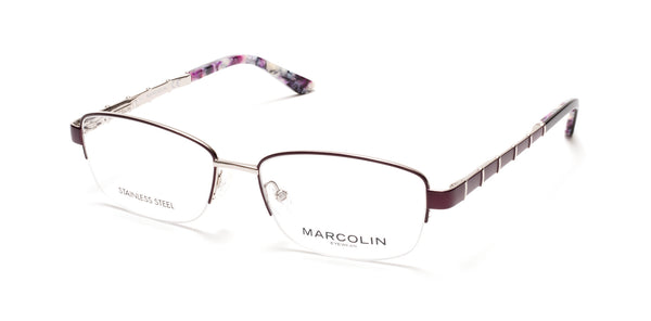 Marcolin - MA5015 54mm Matte Lilac Eyeglasses / Demo Lenses