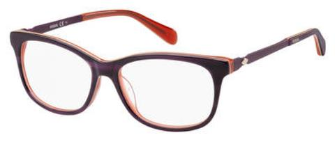 Fossil - Fos 7025 50mm Purple Violet Red Eyeglasses / Demo Lenses