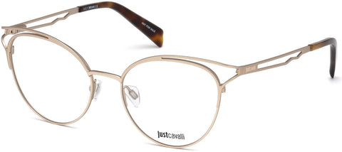 Just Cavalli - JC0860 Matte Rose Gold Eyeglasses / Demo Lenses