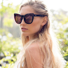 Quay Chacha Black Tortoise / Red Mirror Sunglasses