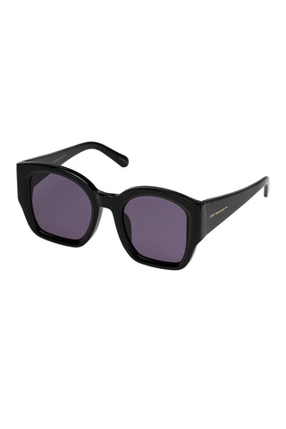 Karen Walker - Check Mate Regular Fit Black Sunglasses / Smoke Mono Lenses