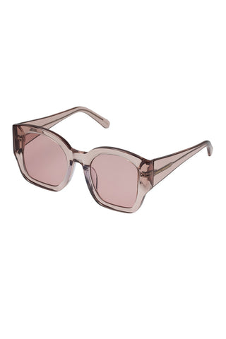 Karen Walker - Check Mate Regular Fit Crystal Madder Sunglasses / Brown Rose Gradient Lenses