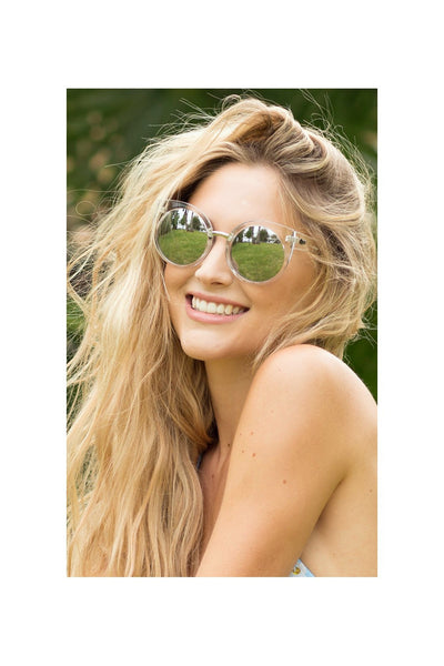 Quay China Doll Clear / Mirror Sunglasses