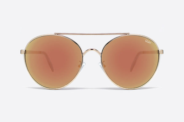 Quay Circus Life Gold / Pink Sunglasses