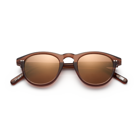 CHiMi - #002 47mm Coco Sunglasses / Brown Mirror Lenses