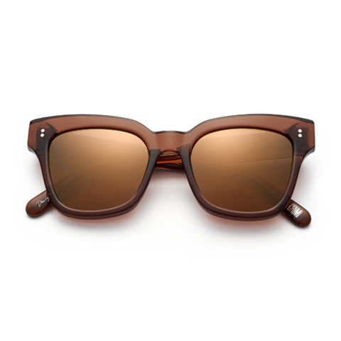 CHiMi - #005 50mm Coco Sunglasses / Brown Mirror Lenses