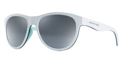 Native - Acadia Matte White Sunglasses / Silver Reflex Lenses