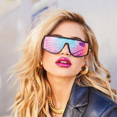 Quay Cosmic Black Sunglasses / Purple Pink Lenses