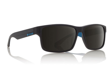 Dragon - Count Matte Black Blue / Grey Sunglasses