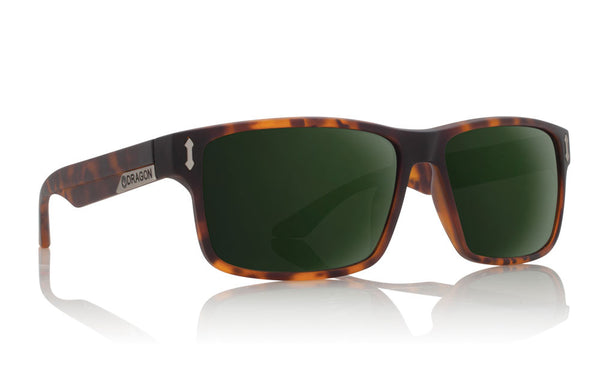 Dragon - Count Matte Tortoise / Green G15 Sunglasses