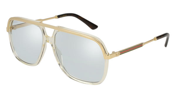 c7eaca50872 Gucci - GG0200S-005 Yellow Gold Sunglasses   Light Blue Lenses – New York  Glass