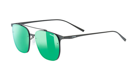 UVEX Sport - LGL 36 Gunmetal Sunglasses / Green Mirror Lenses