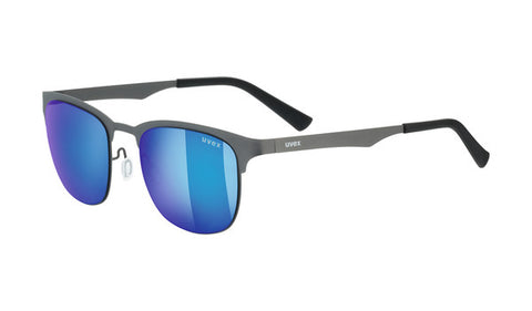 UVEX Sport - LGL 32 Gunmetal Sunglasses / Blue Mirror Lenses