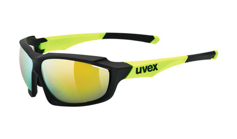 UVEX Sport - Sportstyle 710 Matte Black Yellow Sunglasses / Yellow Mirror Lenses