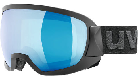 UVEX Sport - Contest FM Matte Black Snow Goggles / Blue Mirror Lenses