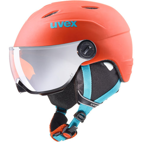 UVEX Sport - Junior Visor PRO Orange Petrol Snow Helmet